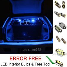 Interior Car LED Bulbs Light KIT Package Xenon Blue For MERCEDES C CLASS (W203)
