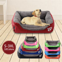 Medium Extra Large Dog Pet Cat Washable Fleece Cushion Warm Pet Basket Bed Soft