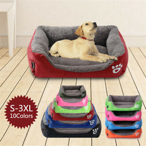 Medium Extra Large Dog Pet Cat Washable Fleece Cushion Warm Pet Basket Bed Soft