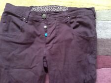 Beck & Hersey, size 32R, skinny fit, burgundy jeans