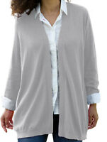 Womans  Plus size M or 1X, 14, 16, Pink, or Gray Cashmere Cardigan SWEATER