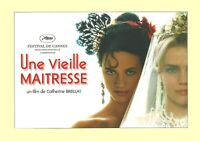Dossier De Presse Du Film Une vieille maîtresse. De Catherine Breillat
