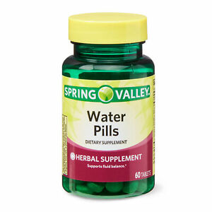 Spring Valley Water Pills Herbal Supplement 60ct Tablets supports Fluid Balance