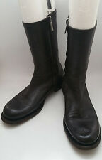 Rocco P Dark Brown Womens 8 / 8.5 / 38.5 Leather Zipper Mid-Calf Boots ITALY