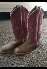 Justin Womens Leather Western Boots Size 9 Cowgirl Pink Lavender