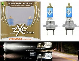 Sylvania Silverstar ZXE Gold H7 55W Two Bulbs Head Light High Beam Replacement