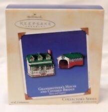 HALLMARK KEEPSAKE ORNAMENT-GRANDMOTHERS HOUSE & BRIDGE COLLECTOR'S SERIES--NIB