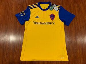 MLS Colorado Rapids Adult Men Replica Wordmark s//jersey,Medium,Yellow and Blue