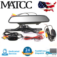 4.3'' Car TFT LCD Mirror Monitor & Wireless Reverse Backup Rear View Camera