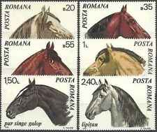 Timbres Chevaux Roumanie 2571/6 ** lot 15457