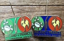 IRELAND V FRANCE MATCH BADGE DUBLIN 10.3.19 SIX NATIONS PIN BADGE 2 Colours