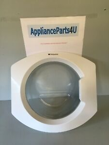 Hotpoint washing machine WMD740P DOOR COMPLETE WITH HINGES