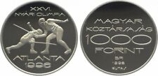 Ungarn 1000 Forint 1995 Olympia -Fechten 31,46g 925er Silber PP (10246)