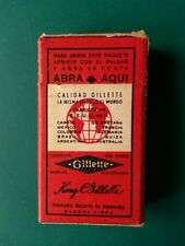 GILLETTE THIN Industria Argentina Buenos Aires Boite neuve 10 lames rasoir blade
