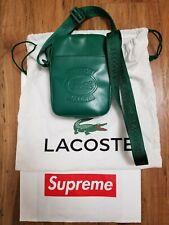 Supreme LACOSTE Shoulder Bag Green SS18 Crossbody Unisex
