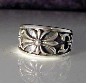 Sterling Silver Camelot Band Ring king arthur England handmade R-82ss