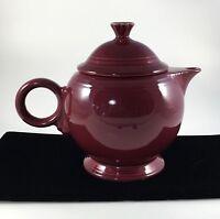 Fiesta Tea Pot Burgundy Maroon Cinnabar Claret Lid Laughlin Decor Retired Gift