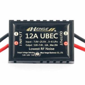 HENGE 12A UBEC Switch Mode BEC Voltage Stabilizer Output 5V/6V/7.4V 12A Max 20A
