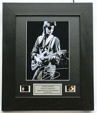 More details for ziggy stardust david bowie v2 limited edition original filmcell memorabilia coa