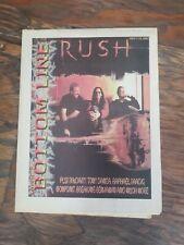 RUSH neil peart BOTTOM LINE magazine 2002 cover and legendary Jim Clevo article