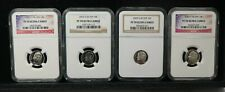 2002 & 2003 S Silver 10c PF 70 UCAMEO NGC SET OF 4 DIMES