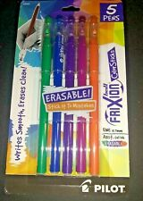 New Pilot Frixion Gel Color Sticks 5 Colors Erasable Fine Ink 07mm