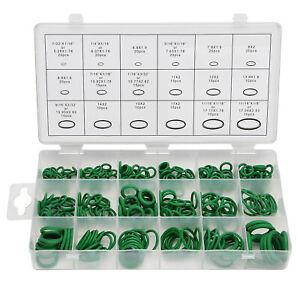 270pcs O-Ring High Pressure Set HNBR A/C Air Gas Oil Proof Assortment Green AU