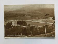 Braemar Castle from Craig Choinneach Vintage B&W Postcard c1930s
