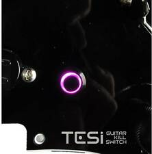 Tesi POCO 12MM LED Momentary Guitar Kill Switch Black / Purple