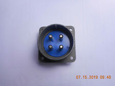 MS3102A32-17P CONNECTOR 4 MALE PIN FLANGE MOUNT