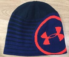 Under Armour Beanie One Size Fits All Blue Orange NWOT