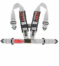 RACING HARNESS SEAT BELT 4 POINT 3 INCHES STRAPS GRAY SFI LATCH & LINK