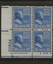SC 830  --30 CENT PREXIE PLATE BLOCK #22834 LL--69