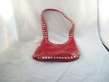 Red Handbag/Purse with Silver Accents