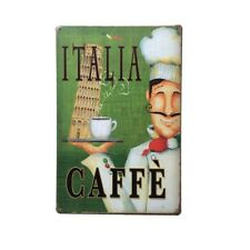 20x30cm Vintage Style Wall Plaque COFFEE 12 Metal Tin Sign Hall Art Decor