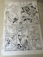 STRANGERS #9 original art ULTRAS, GECKO, TEAM BATTLE PAGE, ACTION, 1994