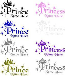 Personalised Name Vinyl Decal Stickers use kids door / walls / window