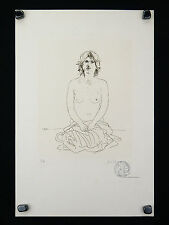 Jacob HILLENIUS (1934-1999) gravure NU erotique nacht nude Holland naakt