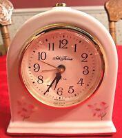 Seth Thomas White Porcelain Electric Alarm Clock 9203 Fanciful Drowse Dialite
