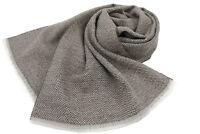 Webschal Herrenschal moderne Schnittfransen 100% Wolle Accessoires unisex grau