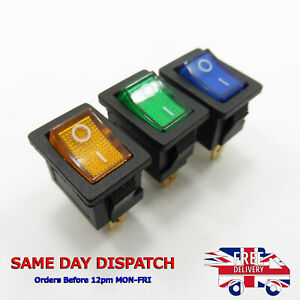 Button 15A 12V DC ON-OFF KCD1-101N Rocker Switch 21mm x 15mm SPST
