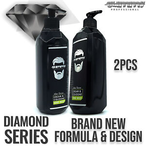 *New* 2PCS Gummy Professional After Shave Cream Cologne One Mile 400ml Barbers