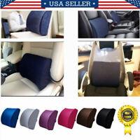 Lumbar Cushion Back Support Memory Foam Travel Pillow Car Seat Home Office Chair