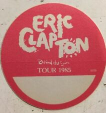 Eric Clapton Behind The Sun Vintage Original Concert Tour Cloth Backstage Pass