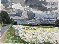 Karl Adser 1912-1995 Sommertag Blühende Felder Blumen Dänemark Skandinavien