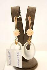 Orecchini pendenti I Mercanti Di Stelle in argento 925 rosé e resina con fiori