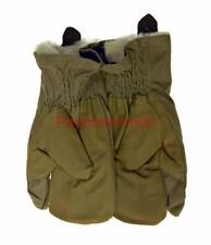 Russian gloves sheepskin Army Ussr Winter Mittens three fingers fur Khaki