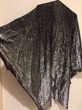 Vintage Metallic Disco Batwing Cocoon Rocker Jacket Dolman Cape