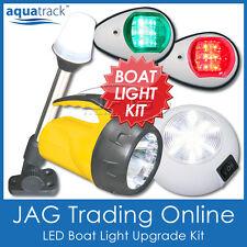 COMPLETE LED BOAT LIGHT KIT & TORCH-Port Starboard Navigation/Anchor/Cabin/Torch