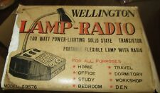 VINTAGE WELLINGTON LAMP-RADIO ,MODEL 9576.
